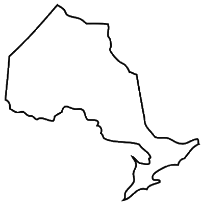 outline map of ontario