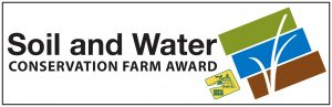 Soil and Water Conservation Farm Award gate sign