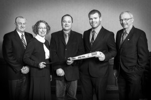 Left to Right: Don Lobb, Lillie Ann Morris, Larry Vollmershausen, Tyler Vollmershausen, Gord Green
