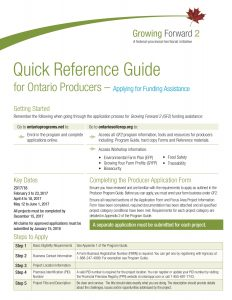 Quick Reference Guide - Applying for Funding Assistance