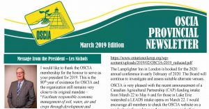 OSCIA March 2019 Provincial Newsletter