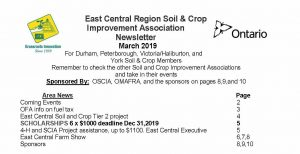 East Central SCIA March 2019 Regional Newsletter