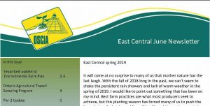 East Central Regional Newsletter coverpage