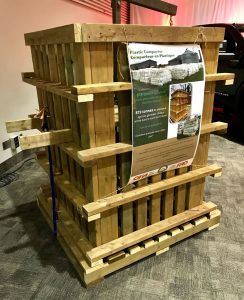 U-PAC Basket Compactor on display at the 2019 Ontario Federation of Agriculture AGM