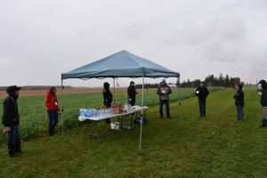 Group in a field at an ONFARM site in Glengarry County